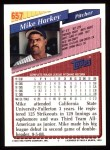 1993 Topps #657  Mike Harkey  Back Thumbnail