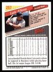 1993 Topps #257  Luis Alicea  Back Thumbnail