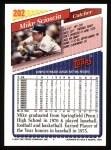 1993 Topps #202  Mike Scioscia  Back Thumbnail