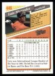 1993 Topps #446  Luis Mercedes  Back Thumbnail
