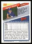 1993 Topps #260  Duane Ward  Back Thumbnail