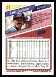 1993 Topps #21  Luis Salazar  Back Thumbnail