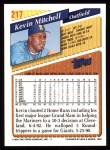 1993 Topps #217  Kevin Mitchell  Back Thumbnail