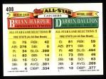 1993 Topps #408   -  Darrin Daulton / Brian Harper All-Star Back Thumbnail