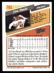 1993 Topps #793  Jim Poole  Back Thumbnail