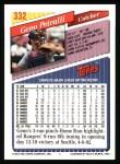 1993 Topps #332  Geno Petralli  Back Thumbnail