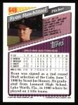 1993 Topps #648  Ryan Hawblitzel  Back Thumbnail