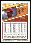 1993 Topps #671  Dave Martinez  Back Thumbnail