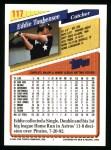 1993 Topps #117  Eddie Taubensee  Back Thumbnail