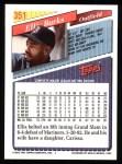 1993 Topps #351  Ellis Burks  Back Thumbnail