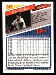 1993 Topps #249  Tim Burke  Back Thumbnail
