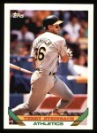1993 Topps #18  Terry Steinbach  Front Thumbnail