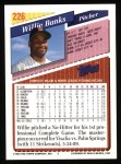 1993 Topps #226  Willie Banks  Back Thumbnail