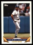 1993 Topps #206  Henry Cotto  Front Thumbnail
