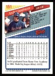 1993 Topps #151  Archi Cianfrocco  Back Thumbnail