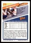 1993 Topps #215  Pat Howell  Back Thumbnail