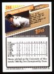 1993 Topps #244  Denny Neagle  Back Thumbnail