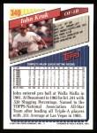 1993 Topps #340  John Kruk  Back Thumbnail
