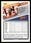 1993 Topps #189  Tony Phillips  Back Thumbnail