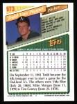 1993 Topps #673  Todd Van Poppel  Back Thumbnail