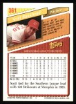 1993 Topps #361  Scott Bankhead  Back Thumbnail