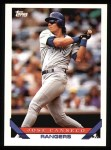 1993 Topps #500  Jose Canseco  Front Thumbnail