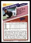 1993 Topps #777  Mark Guthrie  Back Thumbnail
