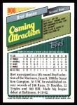 1993 Topps #808  Bret Boone  Back Thumbnail