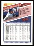 1993 Topps #589  Carlos Hernandez  Back Thumbnail