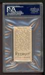 1912 T207  Steve Evans    Back Thumbnail