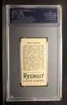 1912 T207  Bert Daniels    Back Thumbnail