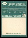 1960 Topps #86  Bob Walston  Back Thumbnail