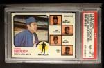 1973 Topps #257 ORG  -  Yogi Berra / Roy McMillan / Joe Pignatano / Rube Walker / Eddie Yost Mets Leaders Front Thumbnail