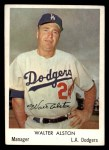 1960 Bell Brand Dodgers #18  Walt Alston  Front Thumbnail