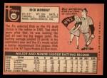 1969 Topps #105  Rick Monday  Back Thumbnail