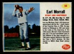 1962 Post #56  Earl Morrall  Front Thumbnail