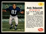 1962 Post #26  Andy Robustelli  Front Thumbnail