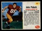 1962 Post Cereal #195  John Paluck  Front Thumbnail