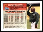 1994 Topps #680  Ruben Sierrra  Back Thumbnail