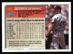 1994 Topps #191  Curt Leskanic  Back Thumbnail