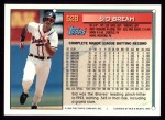 1994 Topps #528  Sid Bream  Back Thumbnail