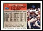 1994 Topps #115  Eric Karros  Back Thumbnail