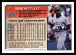 1994 Topps #51  Manuel Lee  Back Thumbnail