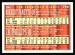 1994 Topps #790  Joe Phillips  /  Rikkert Faneyte  Back Thumbnail