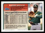 1994 Topps #624  Jerry Browne  Back Thumbnail