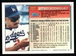 1994 Topps #727  Henry Rodriguez  Back Thumbnail