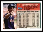 1994 Topps #169  Scott Fletcher  Back Thumbnail