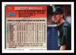 1994 Topps #74  Scott Brosius  Back Thumbnail