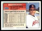 1994 Topps #446  Stan Javier  Back Thumbnail