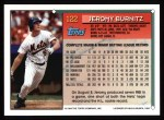 1994 Topps #122  Jeromy Burnitz  Back Thumbnail